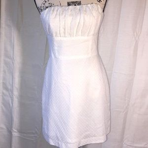 Robin Jordan White strapless dress